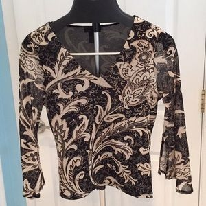 Blouse with rhinestone detail